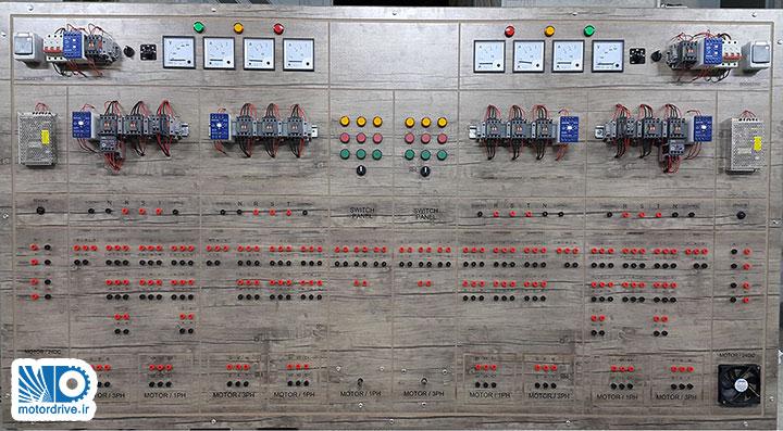 طراحی و ساخت تابلو آموزشی مدار برق قدرت و فرمان